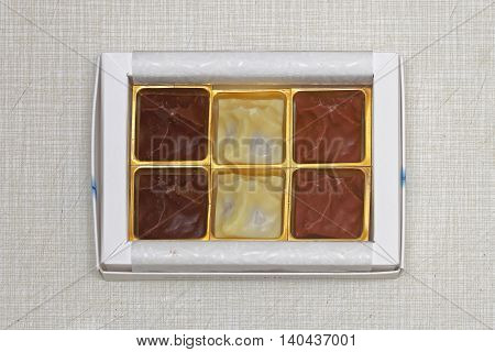 Three Different Chocolate Praline in Small Box