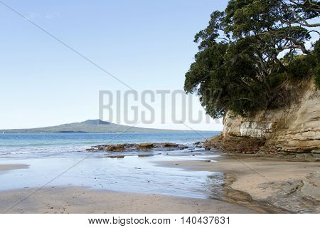 Rangitoto Island in the Hauraki Gulf, Auckland, New Zealand