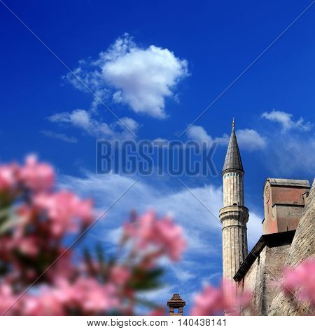Detail shot from Aya Sofia Mosque and Museum in istanbul, Turkey