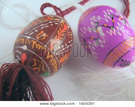 Easter Painted Egg  - With The Passed Cords
