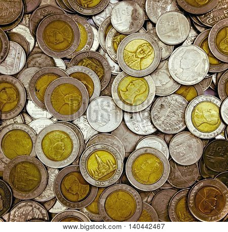 Thai coins money background