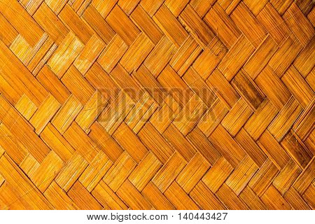 The walls are made of bamboo pattern close up