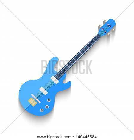Electro Guitar Flat Design isolated on white background. Vector illustration