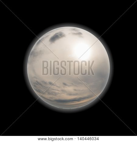 Planets And Moons Rendering And 3D Illustration .