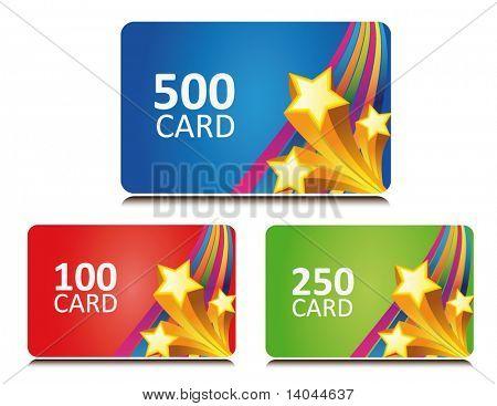 tarjetas de regalo y bono de estrellas