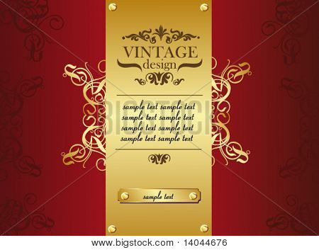 royal vintage title page