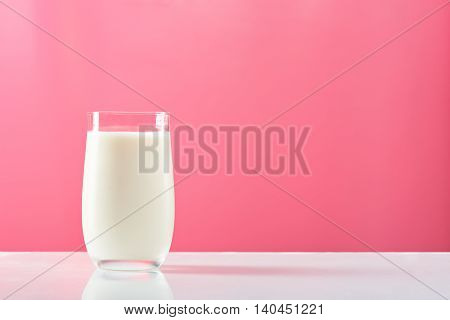 Isolated Glass With Milk