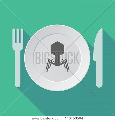Long Shadow Tableware Vector Illustration With The Theory Of Relativity Formula