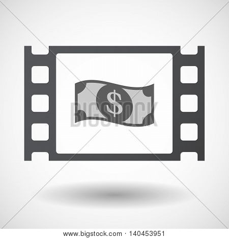 Isolated 35Mm Film Frame With A Dollar Bank Note