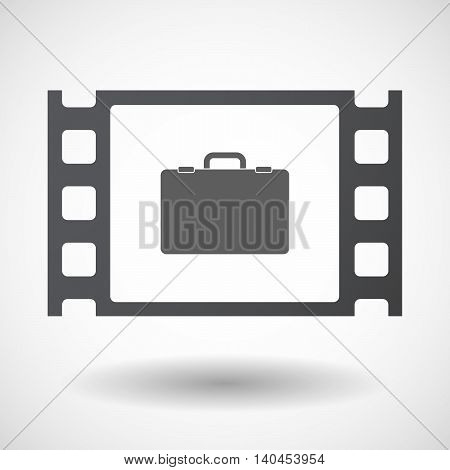 Isolated 35Mm Film Frame With  A Briefcase
