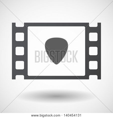 Isolated 35Mm Film Frame With A Plectrum