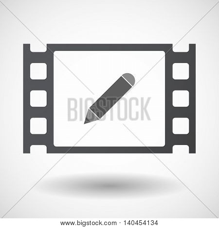 Isolated 35Mm Film Frame With A Smoking Pipe