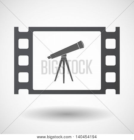 Isolated 35Mm Film Frame With An Electronic Cigarette