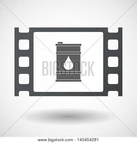 Isolated 35Mm Film Frame With A Barrel Of Oil