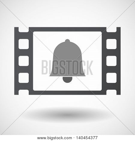 Isolated 35Mm Film Frame With A Bell