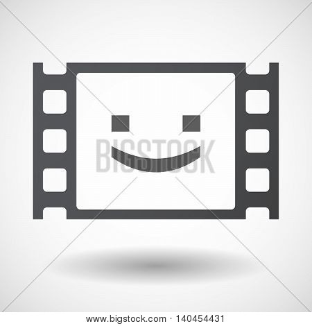 Isolated 35Mm Film Frame With A Smile Text Face