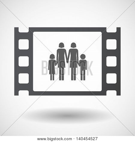 Isolated 35Mm Film Frame With A Lesbian Parents Family Pictogram