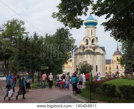 Sergiev Posad, Russia - July, 28, 2016: Church Of The Descent Of The Holy Spirit.