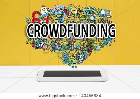 Crowdfunding Concept With Smartphone