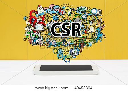 Csr Concept With Smartphone