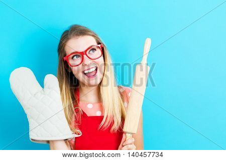 Young Woman With Cooking Theme