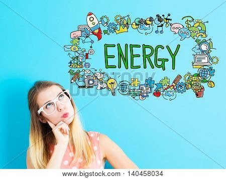 Energy Concept With Young Woman