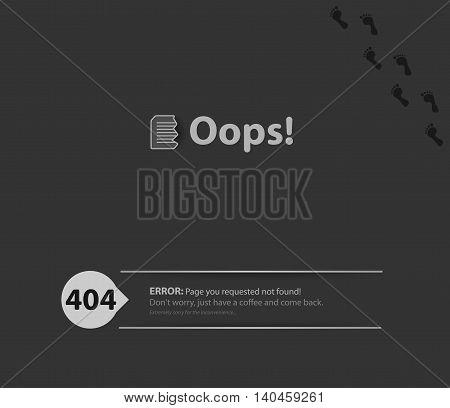 Page not found 404 error. 404 connection error.