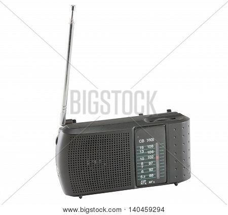 the Radio receiver on a white background