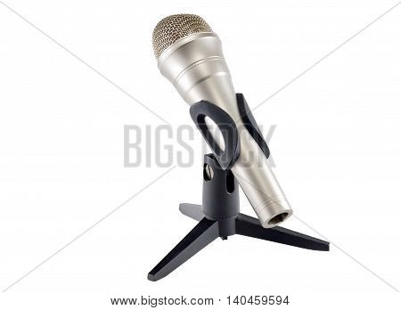 the Dynamic microphone on a white background