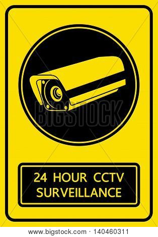 CCTV security camera sign snd symbol vector illustration