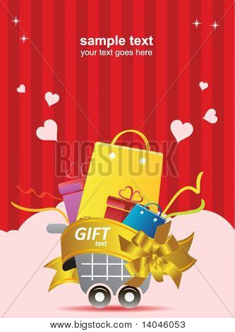 valentine's day shopping poster