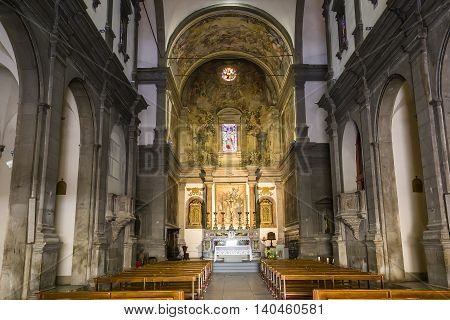 Interiors Of Church Of San Paolino, Lucca, Italy