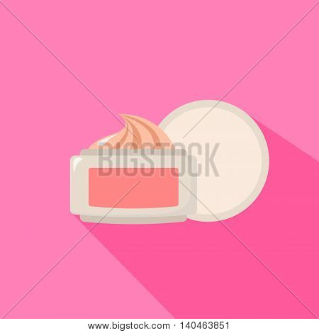 White Jar Of Cosmetic Face Cream And For The Body. Vector Illustration