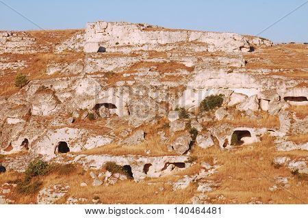 The old homes of pastors of the Murgia plateau in Basilicata - Italy