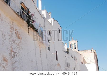 The perimeter wall of Ostuni the