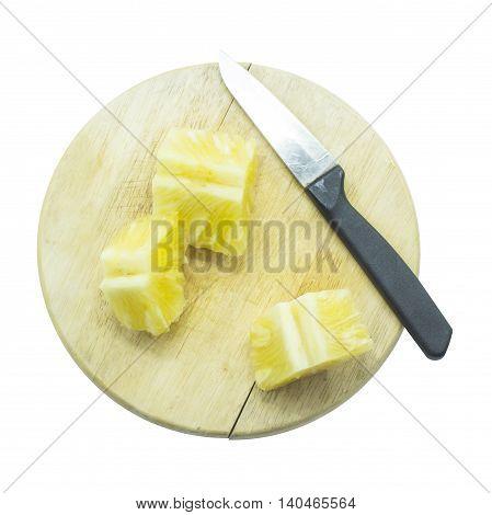 Pineapple Fruit Slice On Top View