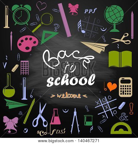 Back To School Icons School Supplies