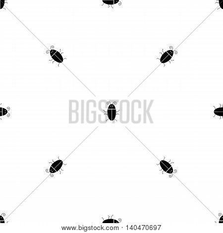 Silhouettes of Bugs Seamless Pattern. Virus Concept Bckground