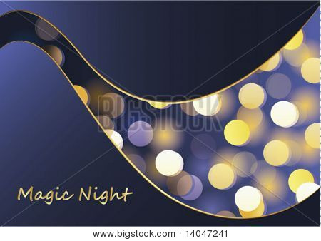 magic night - glittering bokeh background