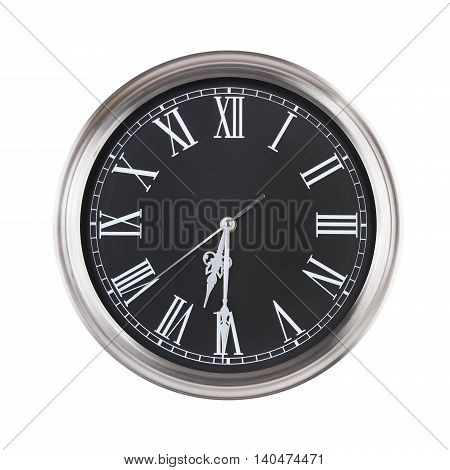 Half of the seventh on a round clock face