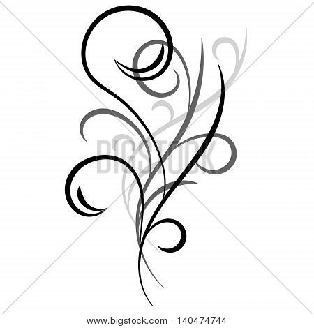 Doodle hand drawn abstract ornament on white background