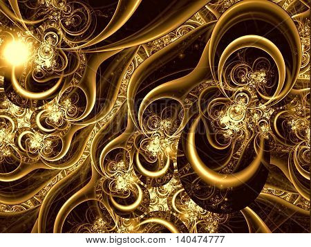Abstract Elegant Ornament - Digitally Generated Image