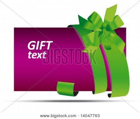 violet sale and gift tag