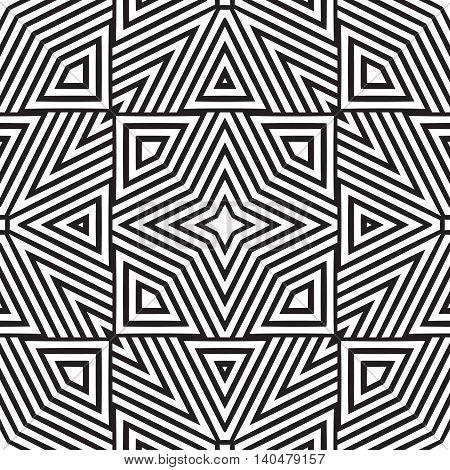 Black and white geometric seamless pattern. Simple regular background. Vector illustration
