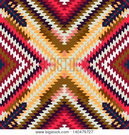 Vector seamless pattern, abstract geometric background illustration, fabric textile illustration