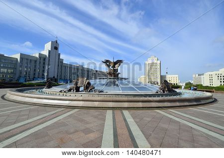 Minsk Independence Square landmarks Dome underground shopping center