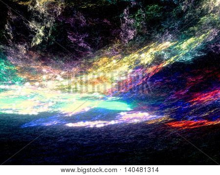 Abstract Futuristic Sky Digitally Generated Image