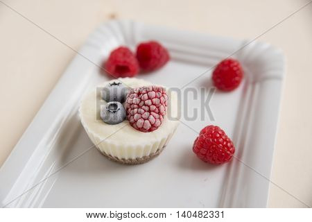 home made Ice Cream Cupcakes with fresh berries
