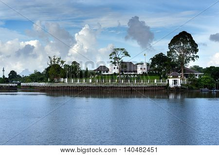 Palace Astana On The North Bank Of The Sarawak River