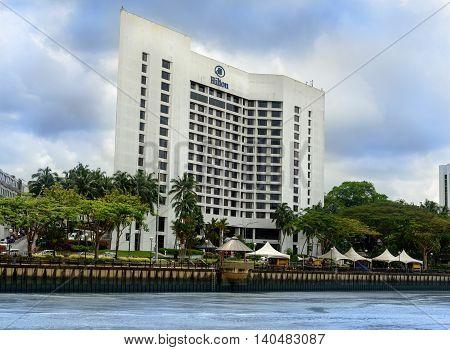 View Of Kuching City Waterfront And Hilton Hotel